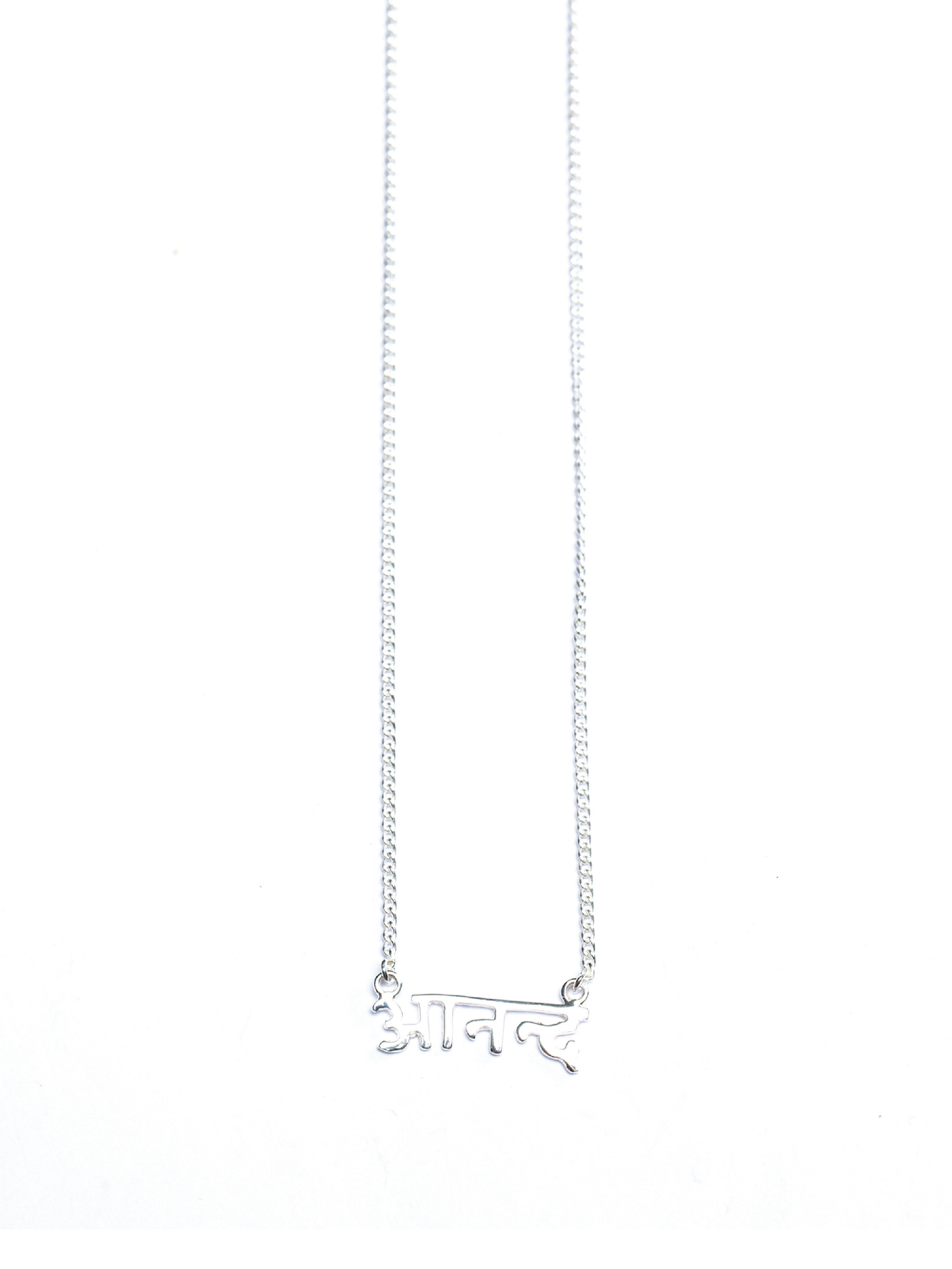 Happiness - Sanskrit Necklace (Silver)
