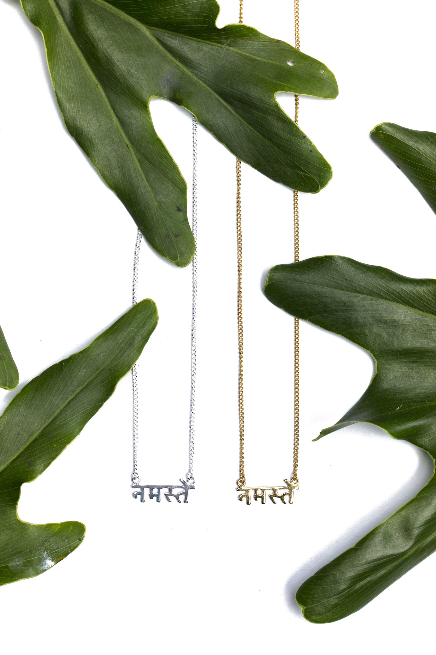 Namaste - Sanskrit Necklace (Gold)
