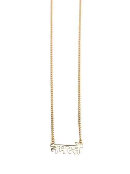 Namaste - Sanskrit Necklace (Gold)