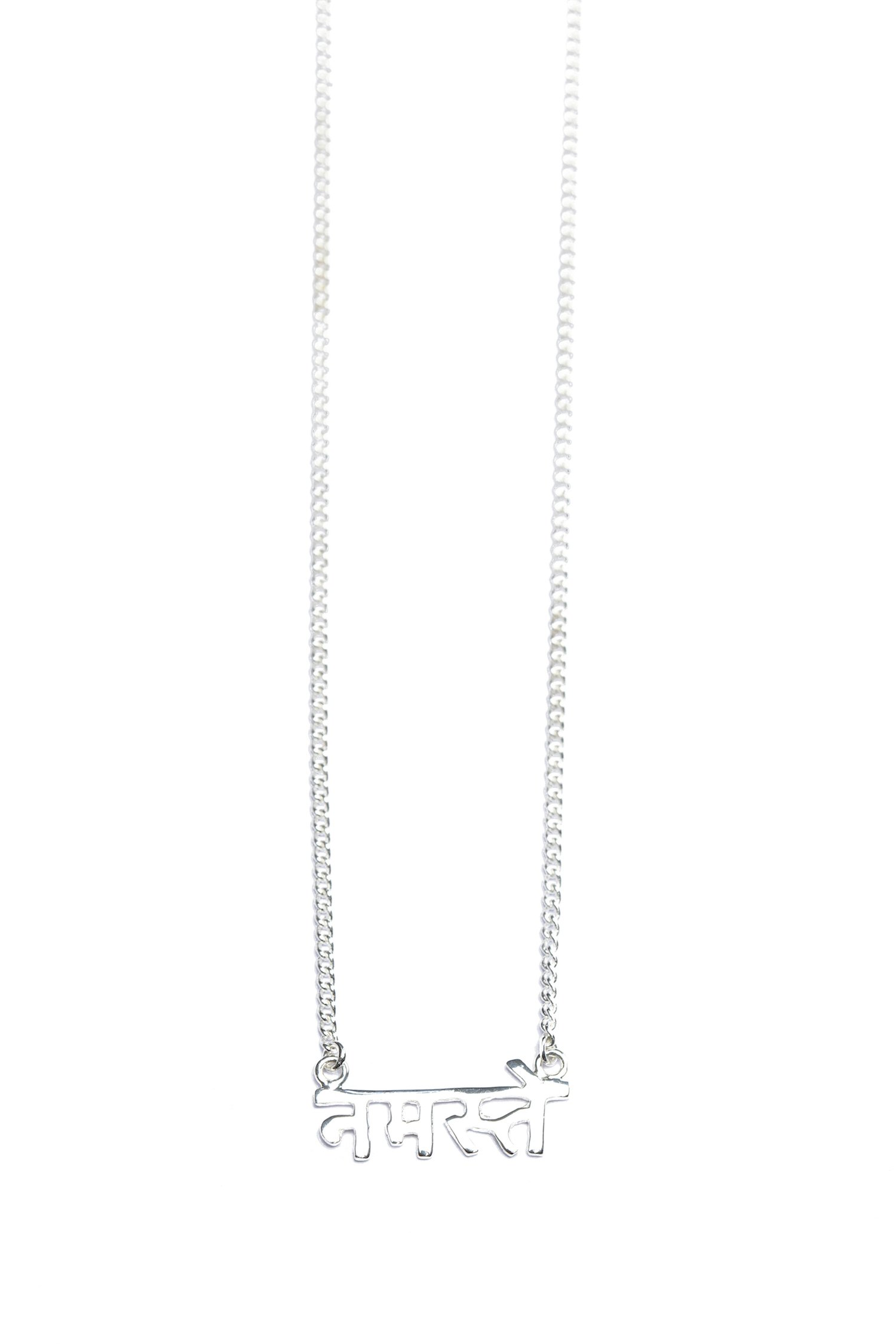 Namaste - Sanskrit Necklace (Silver)