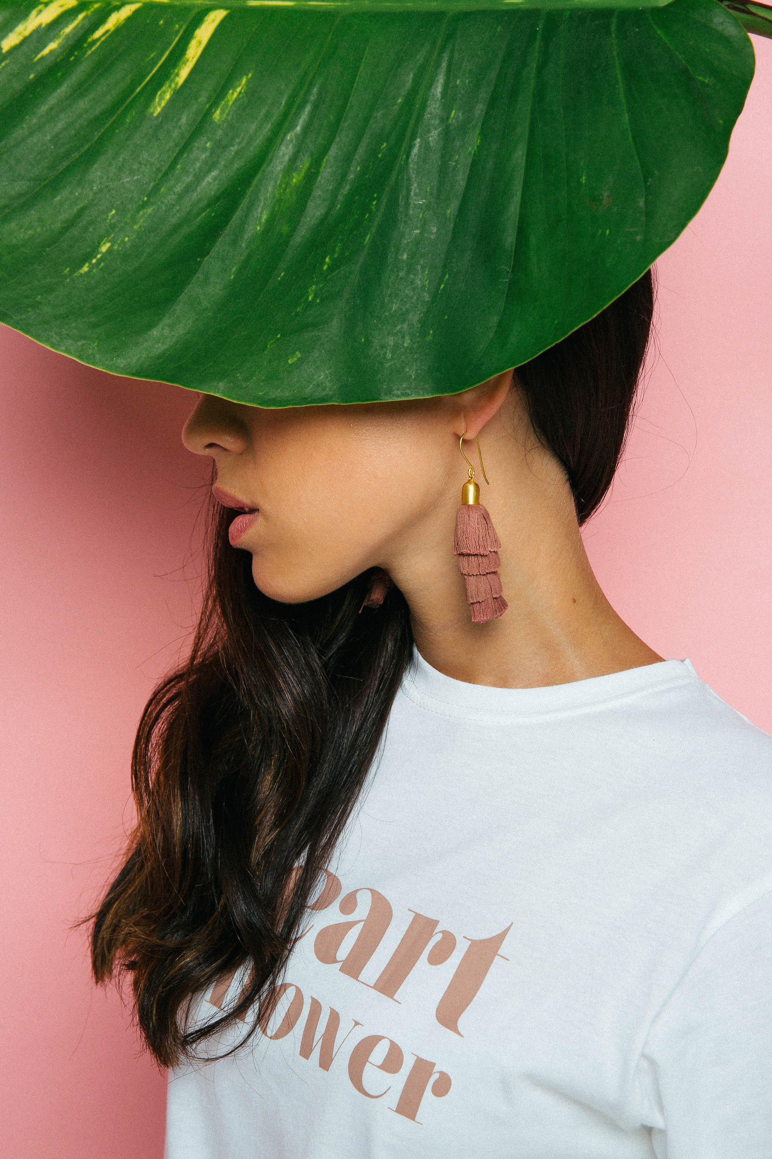 Pink Shooting Stars Earrings (Gold)